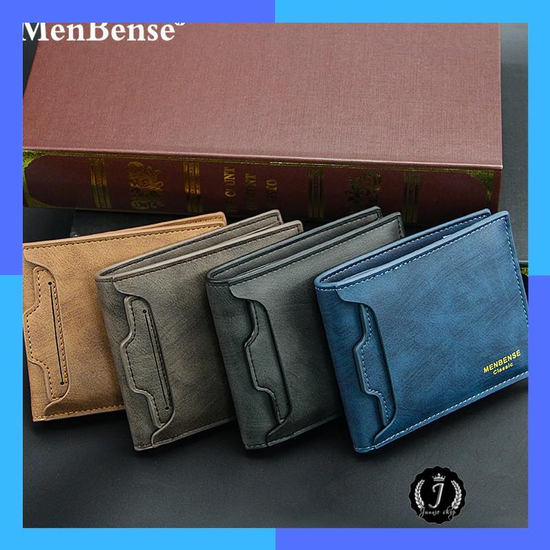 Bóp da nam,ví da nam cao cấp MENBENSE dáng ngang, ngăn riêng để giấy tờ quan trọng - MB03