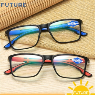 🎈FUTURE🎈 Fashion Anti-Blue Light Eyeglasses Vintage Progressive Multifocal Lens Reading Glasses Portable Women Men Comfortable Eye Protection Ultra Light Frame Blue/Blue/Red