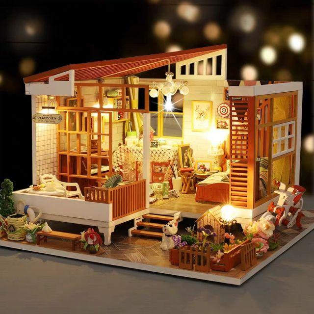 Mô hình nhà gỗ búp bê Dollhouse DIY – Kèm mica – A004 Like A Dream