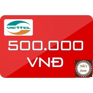 Mã thẻ Viettel 500k (thẻ cào Viettel 500.000đ)
