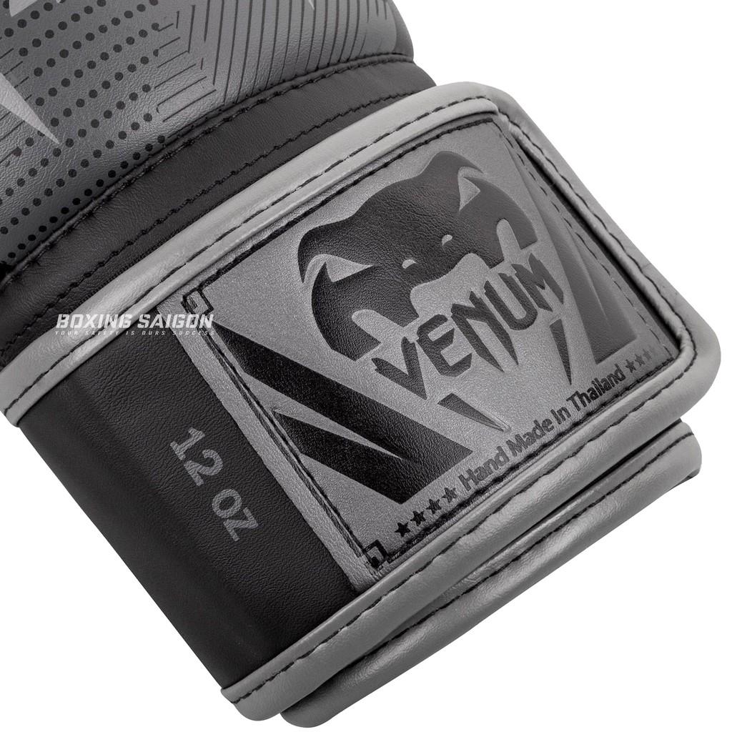 Găng tay boxing Venum Elite chính hãng - Black/Dark/Camo