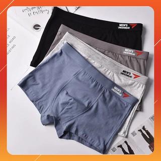 Yêu Thích[RẺ VÔ ĐỊCH] Hộp 4 quần lót nam boxer cao cấp Men's UnderWear, Quần xì sịp đùi nam vải Coton Siêu Đẹp