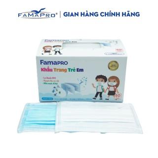 Khẩu trang y tế trẻ em kháng khuẩn 3 lớp Famapro max kid ( 50 cái hộp ) thumbnail