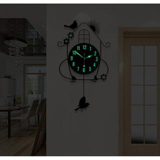 Đồng hồ ngôi nhà chim non mặt dạ quang