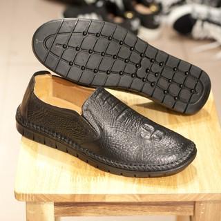 Giày Lười Nam Da Bò in Vân Cá Sấu L451-L xả 99k