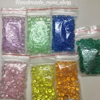 Sỏi đá màu trang trí (hạt fishbowl) 8-10g