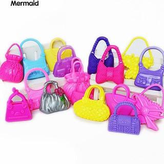 ‼♥ 10Pcs Mixed Mini Shoulder Bag Handbag Kid Toy Accessories for Barbie Doll