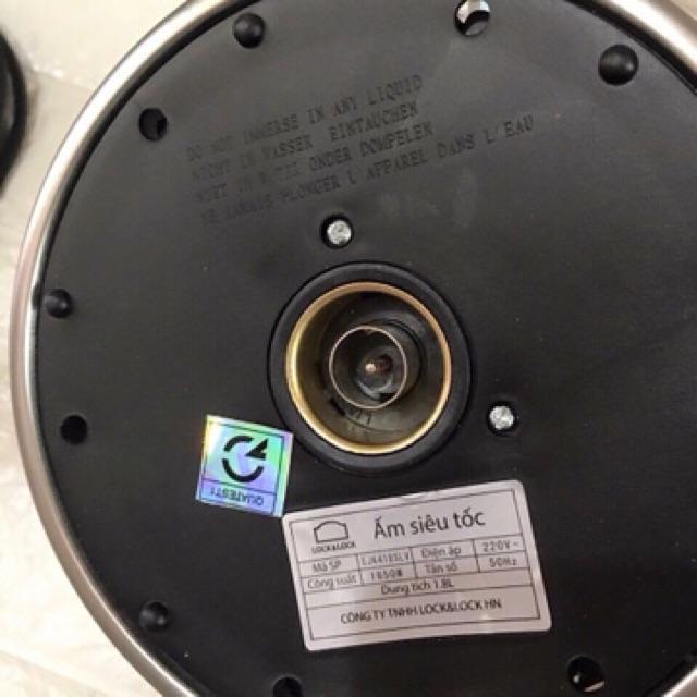 Ấm siêu tốc thuỷ tinh LocknLock EJK418SLV 1.8L