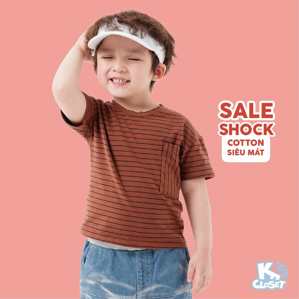 Áo Phông Cộc Tay Bé Trai (1-6 Tuổi) K's Closet B001TES / B023TES HD