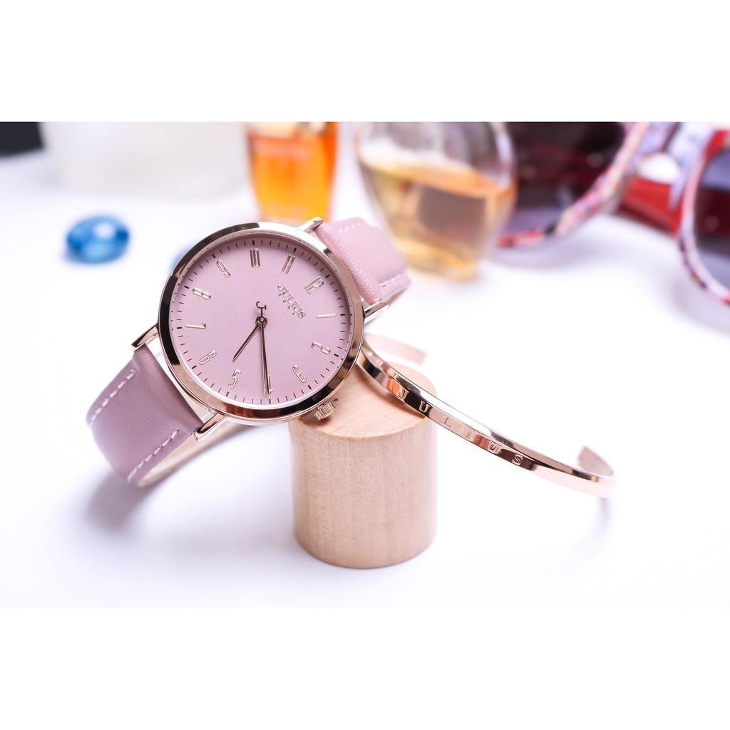 Combo đồng hồ nữ Julius Hàn Quốc JA-1017 kèm lắc tay cao cấp ( H