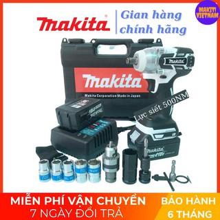 [Chinh Hang] [Cao cấp]Máy siết bulong Makita 118v, 2 pin 10cell, 100% dây đồng, không chổi than, tặng 6 đầu khẩu trắng v