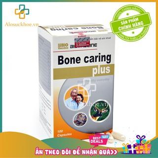 [CHÍNH HÃNG] Bone caring Plus – Viên uống bổ sung Canxi, Vitamin cho người loãng xương và trẻ còi xương (100v)