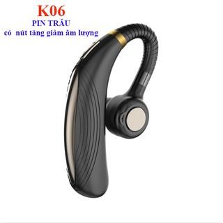[Mã ELFLASH5 giảm 20K đơn 50K] Tai phone móc tai K06 PIN TRÂU - CÓ NÚT ĐIỀU CHỈNH ÂM LƯỢNG