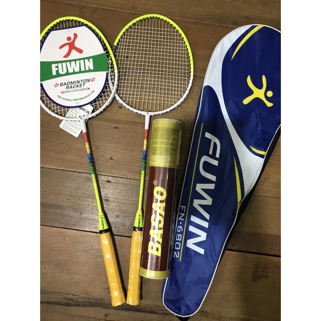 Combo 2 cây vợt cầu lông Fuwin cao cấp - tặng ngay 1 hộp cầu lông 3 sao 10 quả