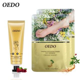 Kem chiết xuất hoa hồng OEDO làm trắng và dưỡng da tay + 2 mặt nạ tẩy tế bào chết cho da chân mềm mại sạch sẽ
