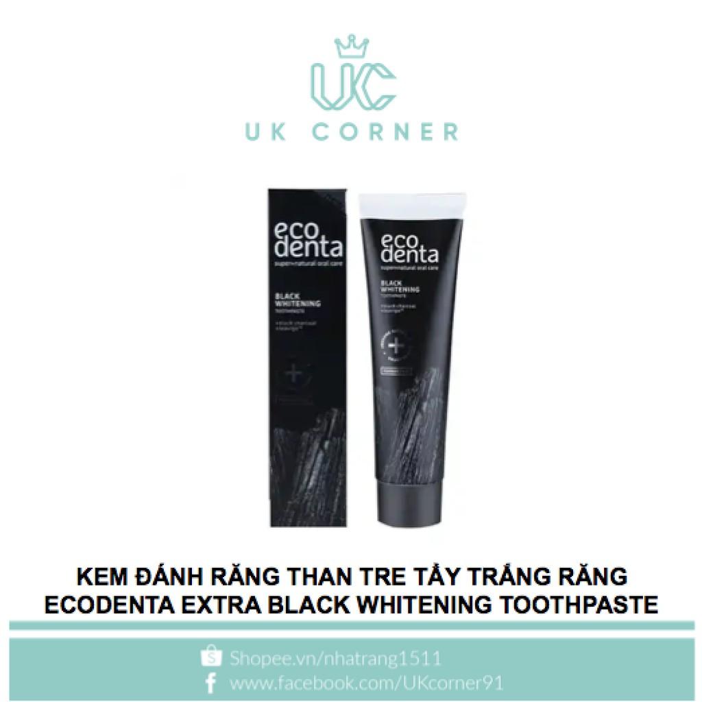Kem đánh răng than tre tẩy trắng răng Ecodenta Extra Black Whitening Toothpaste 100ml