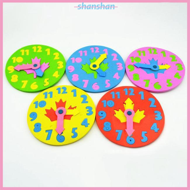 Kids DIY Clock Learning Education Toys Fun Math Game for Children Baby