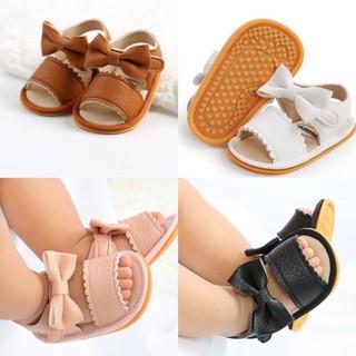 Giày sandal tập đi cao cấp cực chất đế cao su chống trơn trượt chất da mềm mại đính nơ dễ thương cho bé gái.Loại 1 1