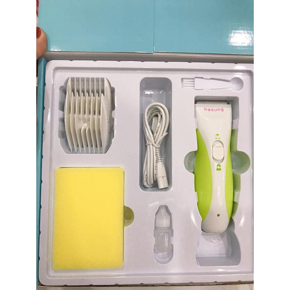 Tông đơ cắt tóc trẻ em / Người lớn Hasung HS365 - tặng kèm khăn choàng cổ  dùng cắt tóc giá cạnh tranh