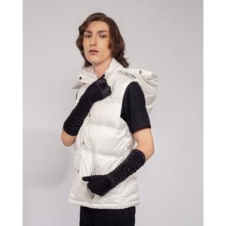 Áo khoác Nữ Yvette LIBBY N guyen Paris 100% Lông ngỗng Tự nhiên, Họa tiết Ngang lớn, Màu Trắng thumbnail