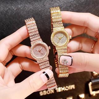 Đồng hồ thời trang nữ DZG dây đính cườm cực đẹp Th169