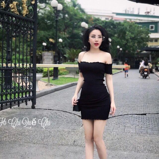 Đầm dự tiệc ❄ FREESHIP ❄ Váy body trễ vai thun gân thời trang XIXO cao cấp DAM0018