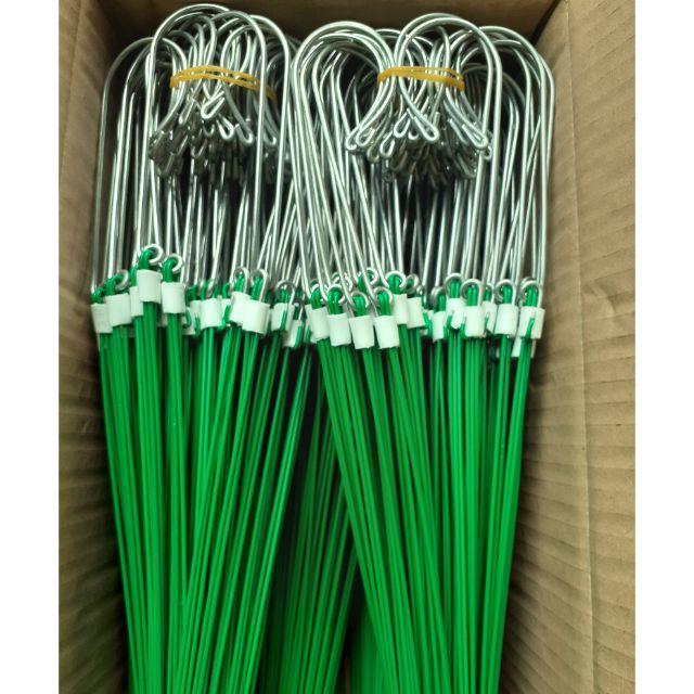 50 móc kẽm bọc nhựa treo lan dài 90cm