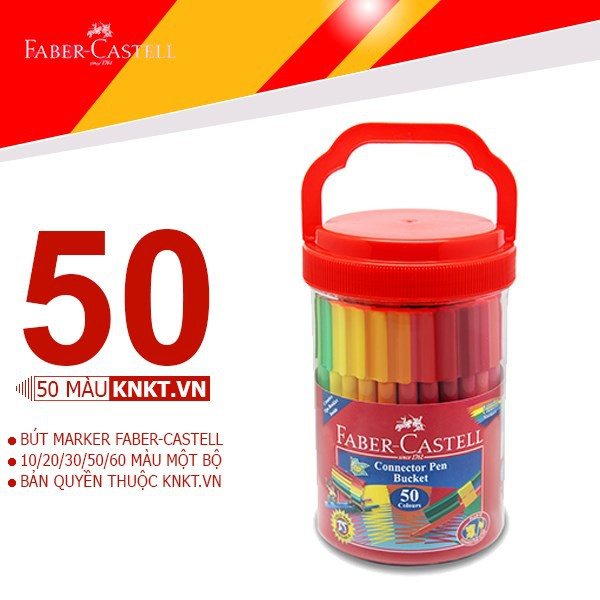 Bút marker FABER CASTELL 50 màu