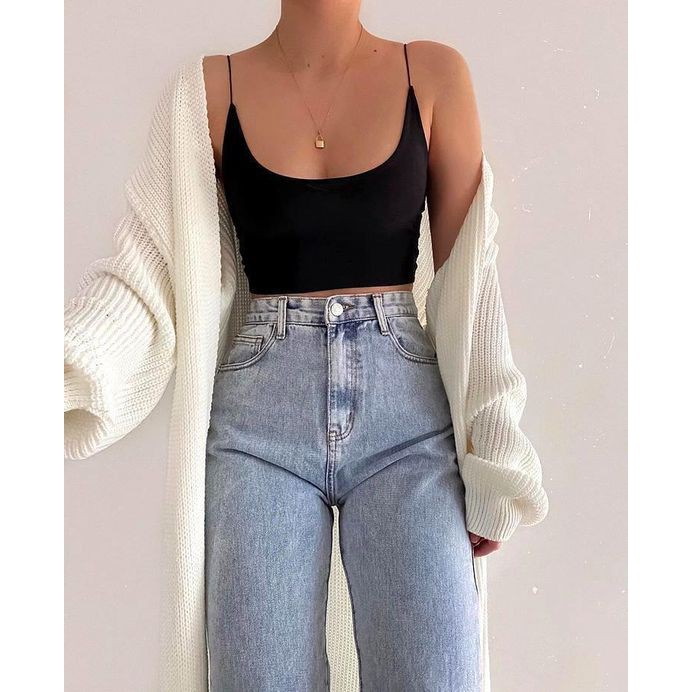 Áo 2 dây sexy, áo croptop nữ tính chất cotton co giãn siêu đẹp T105