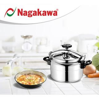 Nồi áp suất Nagakawa dung tích 4L, 5L, 7L, NAG1441, NAG1451, NAG1471, chất liệu hợp kim nhôm cao cấp