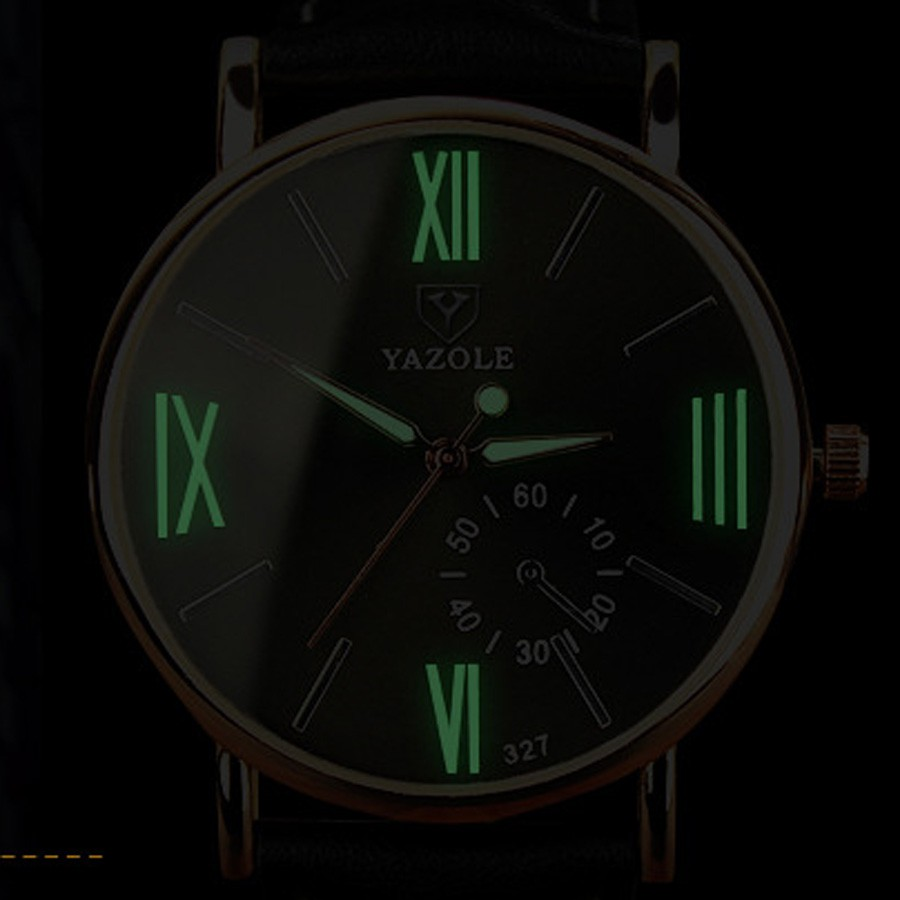 Đồng hồ nam dây da YZL - 327