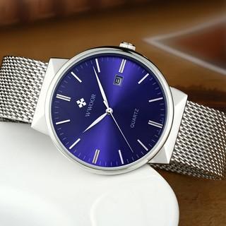 WWOOR men watch waterproof analog quartz clock fashion gold watch 8826W