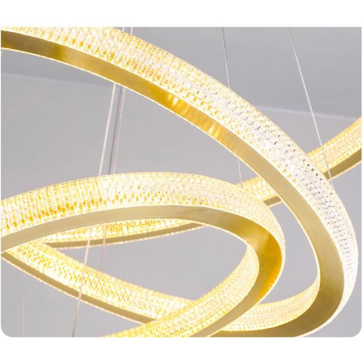 Đèn trần MONSKY G60 LED 3 vòng 3 chế độ sáng - có điều khiển từ xa tiện dụng