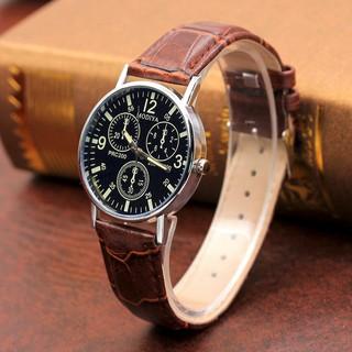 Đồng hồ nam dây da thời trang phong cách Hàn Quốc cực Hot Modiya DH97