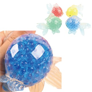 Cute Goldfish Mesh Ball Stress Squeeze Grape Toys Anxiety Relief Stress Ball