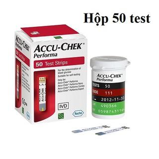 Que thử đường huyết ACCUCHEK Perfoma hộp 50 test chính thumbnail