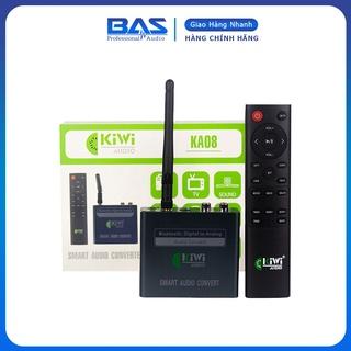 DAC cao cấp Kiwi KA08, bộ chuyển đổi âm thanh giải mã 24bit, hỗ trợ Bluetooth, kèm điều khiển. Tặng pin AAA thumbnail