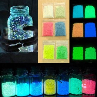Gifts Hot Cute Fluorescent luminous glow sand Bright Glow in the Dark Sand Particles Glow Pigment for Kids Baby Gift par