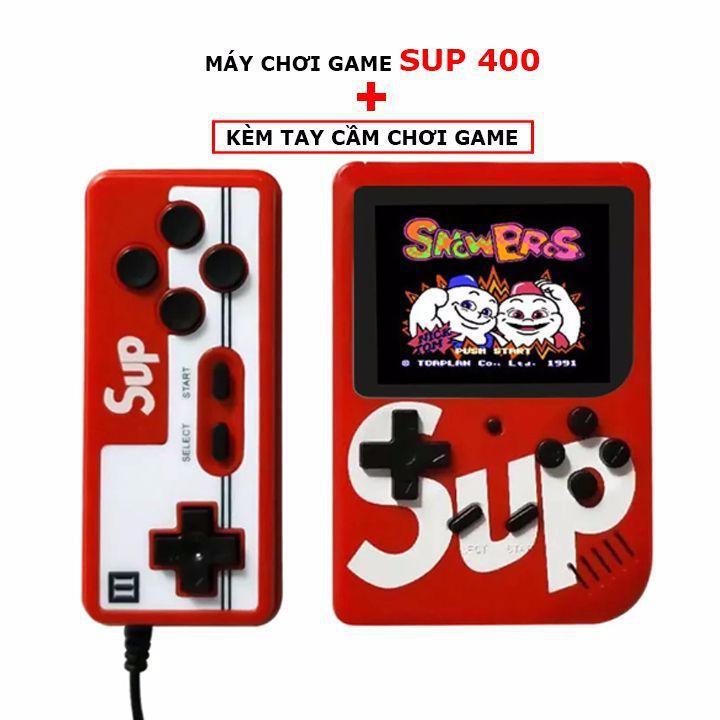 Máy Chơi Game Cầm Tay Mini Sup Hot Trend - 400 game in 1 Kèm Tay Cầm Chơi Game 2 Người