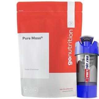 Mass gainer muscle Pure Mass Go Nutrition 2,5Kg & Bình Lắc tăng cân tăng cơ tập gym chứa whey, bcaa, yến mạch, protein