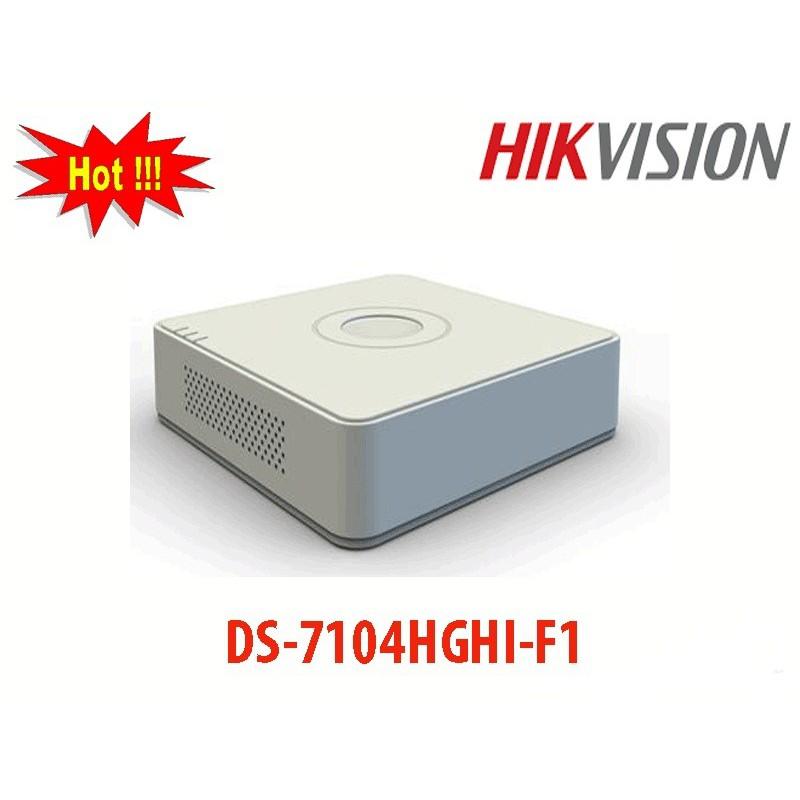 Đầu Ghi Hình HD-TVI 4 kênh TURBO 3.0 HIKVISION DS-7104HGHI-F1 - Hàng Chính Hãng