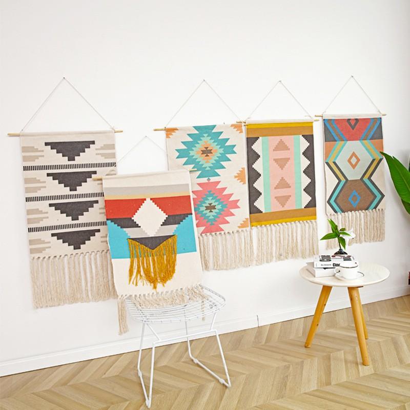 Thảm treo tường trang trí nhà cửa thêm xinh xắn phong cách trang trí nhà cửa hiện đại  - Nordic Style