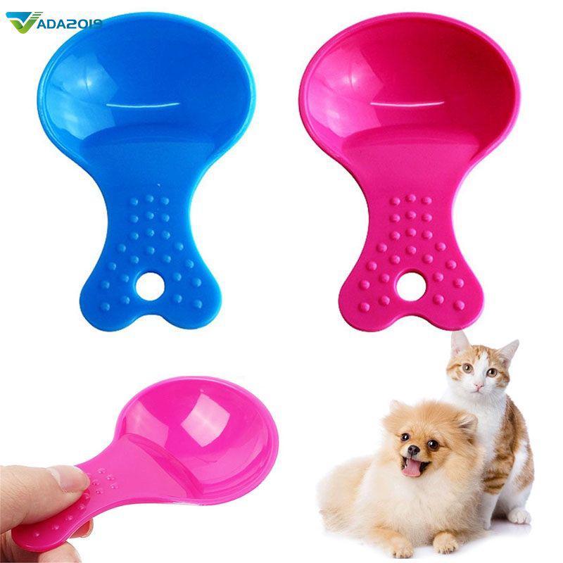 Ready stock Pet Supplies Food Shovel Plastic 2 Colors Food Pet Spoon Small Pet Spoon Tool Ada