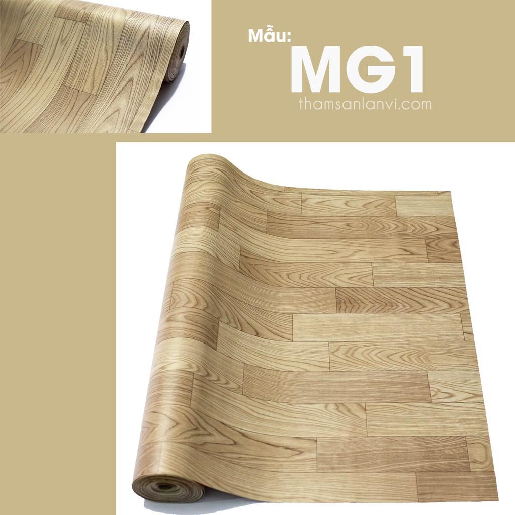 Thảm trải sàn simili, thảm lót trải phòng, giả vân gỗ, trải cửa hàng, phòng ngủ