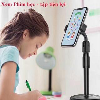 Giá đỡ điện thoại đa năng, Giá đỡ điện thoại để bàn, kẹp chống lưng 360 ,đế chân tròn để bàn thumbnail