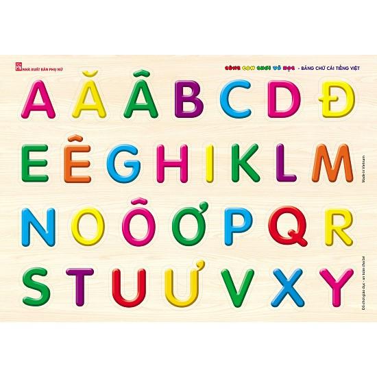 Bảng Gỗ Cùng Con Chơi Và Học - Bảng Chữ Cái Tiếng việt