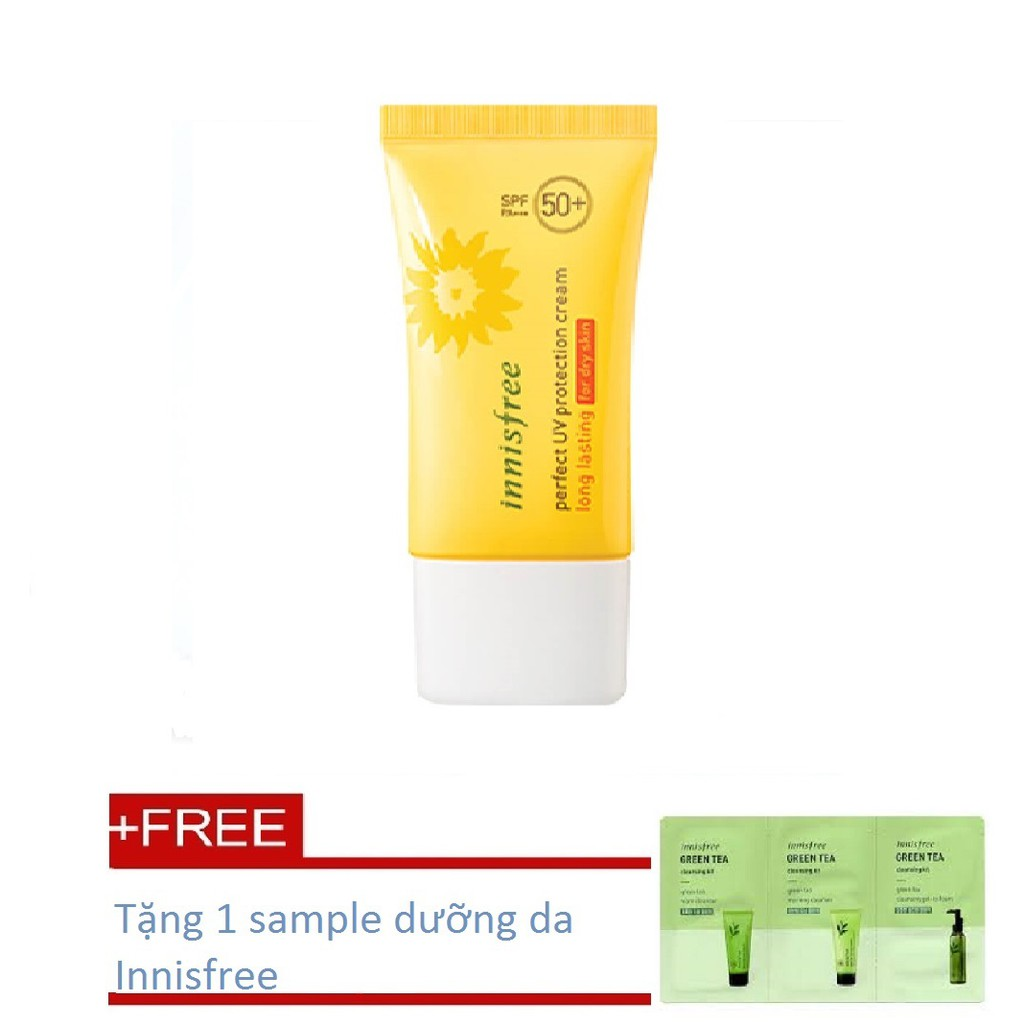 Kem chống nắng Innisfree Perfect UV Protection Cream Longlasting for dry skin + Tặng 1 kit dưỡng da
