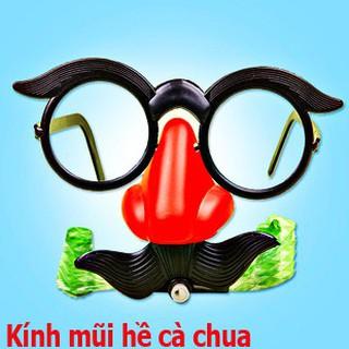 Mắt kính chú hề đeo mũi mang râu vui nhộn-kính mũi hề