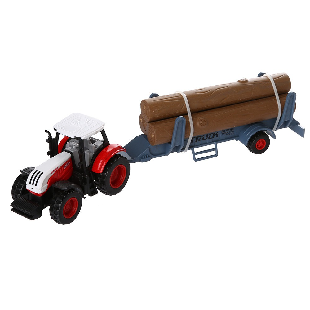 🎈lindsayll🎈 Alloy Engineering Car Tractor Toy Vehicle Farm Vehicle Belt Boy Tractor Toy