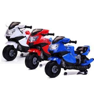 [Nhập TOYHAPPY giảm 10%]Xe máy điện trẻ em dáng xe đua thể thao cho bé